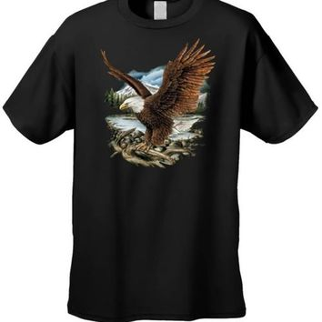 Men's/Unisex T Shirt Bald Eagle With Spread Wings