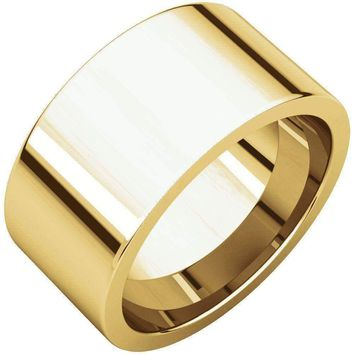 14k Yellow Gold Flat Comfort Fit Wedding Band