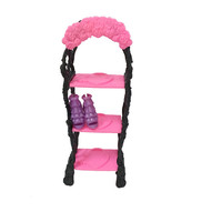 Kids Playhouse Shoes Rack For Barbie Doll Storage Racks For Monster High Dolls Furniture