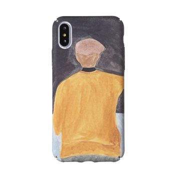 Retro Art Artistic Oil Painting Cases for iphone X Case (Boy)