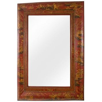 Pre-owned Chinoiserie Style Wall Mirror