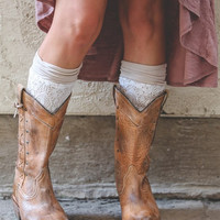 Two-Layer Lace Boot Cuff