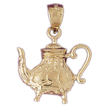 14K GOLD COOKING CHARM - TEAPOT #6952