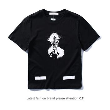 Cheap Women's and men's OFF-WHITE t shirt for sale 85902898_0203