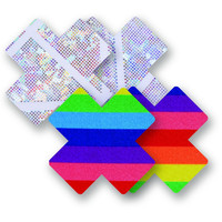 Nippies® One Love Rainbow Cross Pasties Nippies® One Love Rainbow Cross Pasties Rainbow A-DD