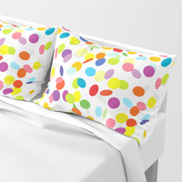 Joyful flying сonfetti pattern Pillow Sham by Natalia Bykova