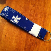 University of Kentucky Wildcats Paisley Wristlet by elbeescrafts