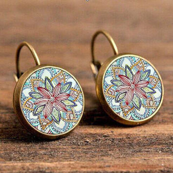 Euro-American Bohemia style earrings fashion retro Vintage time creative silver antique bronze henna jewelry new all match gift