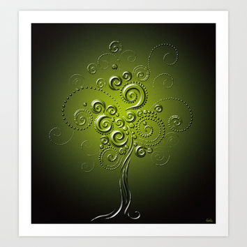 Tree of Elegance Art Print by Texnotropio
