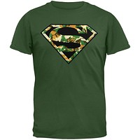 Superman - Digi Camo Logo Youth T-Shirt