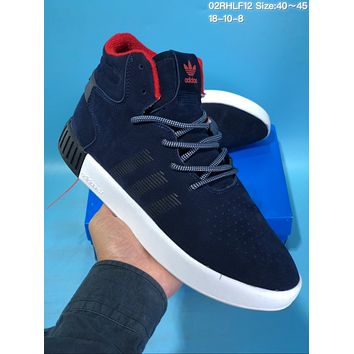 hcxx A420 Adidas Tubular Invade Yeezy 750 Hight Suede Skate Shoes Dark Blue Red