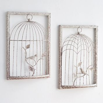 Wall Hanging Metal Decoration Creative Retro Iron Cage