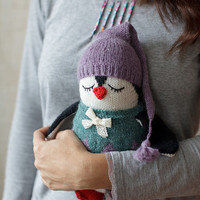 Handmade Dreamer Platon the Penguin- Hand Knitted Toy- Stuffed Animal- Child Toy