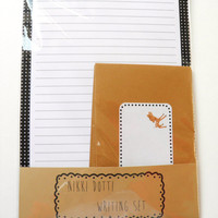 Stationery set - Deer - 8 sheets and 4 envelopes