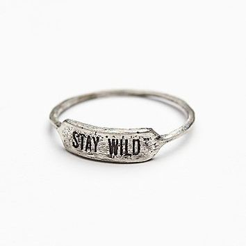 Redwolf Womens Stamped Vibes Pinky Ring