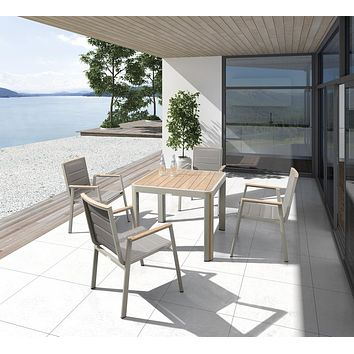 Outdoor Dining Set (4 chairs) | Higold Geneva