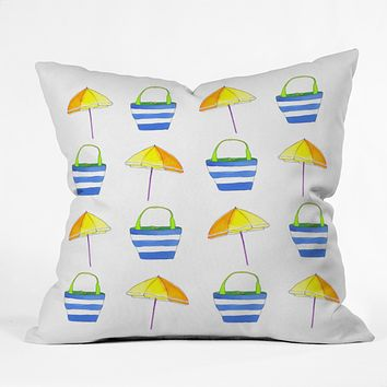 Laura Trevey Holiday Outdoor Throw Pillow