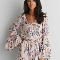AEO Wrap Romper , Blush