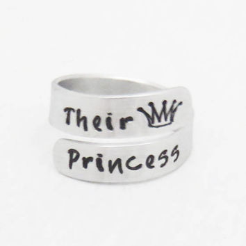 His Princess ring - Princess crown ring - Ring for daughter - Princess jewelry gift for daughter tiara ring