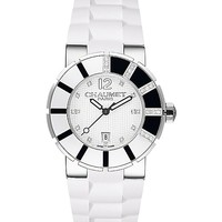 CHAUMET - Class One polished steel and diamond watch | Selfridges.com