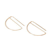 Cutout Threader Earrings