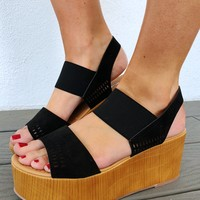 Make A Difference Wedges: Black