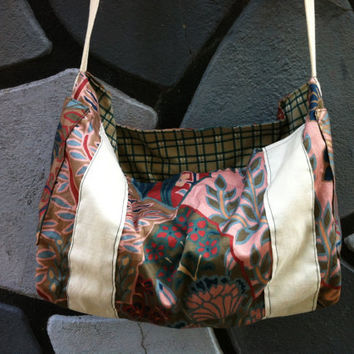 overnight/diaper bag Vintage inspired floral purse by AnotherLove