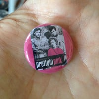 "Pretty In Pink 1986 1"" Pinback Button Molly Ringwald John Hughes"