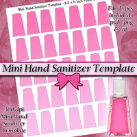 Mini Hand Sanitizer Label DIGITAL Collage Sheet TEMPLATE DIY 8.5x11 Page with Video Tutorial Instructions (Instant Download)