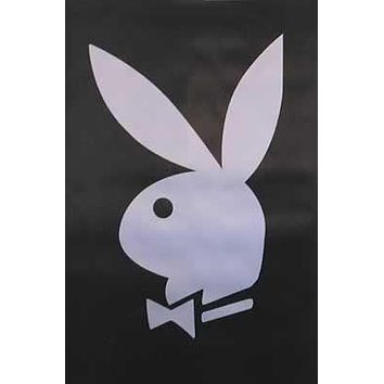 CLASSIC PLAYBOY BUNNY SILVER LOGO POSTER - 24X36 PRINT