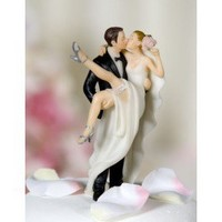 Kissing Over the Threshold Wedding Cake Toppers
