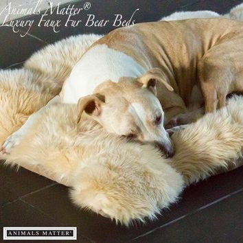 Animals Matter® Luxury Shag Bear Bed
