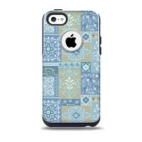 Blue Patched Paisley Pattern Skin for the iPhone 5c OtterBox Commuter Case