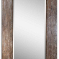 Uttermost Langford Large Wood Mirror - 09505