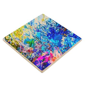 Art of color palette wood coaster