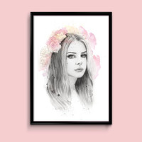 Lana Del Rey Illustration Print