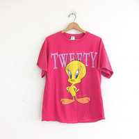 Vintage Tweety BIrd tshirt / oversized loose fit Velva sheen tee shirt