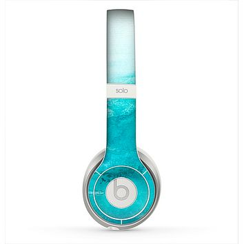 The Grungy Blue Watercolor Surface Skin for the Beats by Dre Solo 2 Headphones