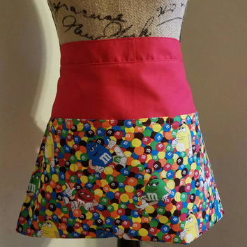 Diner - waitress - m - & - m - shop - coffee - shop - pinup - rockabilly - 50's - retro - vintage - style - half - apron - w/ - pockets