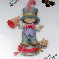 Clown Hand-Crafted 3D Decoupage Card - Happy Birthday (1697)