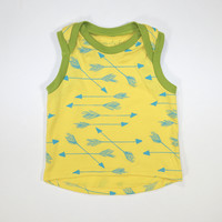Arrows Organic Baby Boxy Tank in Yellow