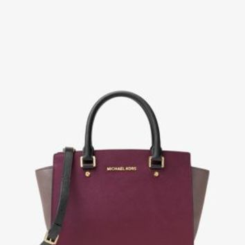 Selma Medium Color-Block Leather Satchel | Michael Kors