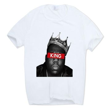 Notorious Big T-shirt Short sleeve O-Neck Biggie Smalls