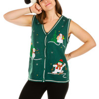 Do You Want to Build a Snowman? Ugly Christmas Vest
