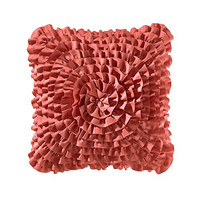 Teen Vogue Ruffle Coral Decorative Pillow, 14-Inch
