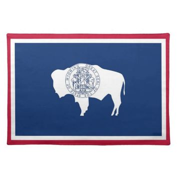 Wyoming State Flag American MoJo Placemat