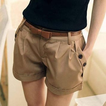 2016 New Fashion Women Summer Shorts Short Woman Casual Ladies Shorts Without  Belt  A0016
