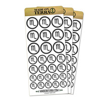 Zodiac Sign Scorpio Removable Matte Sticker Set