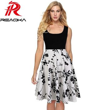 2018 New Summer Vintage Casual Dress Women A-Line Sleeveless Backless Printing Vestido De Festa Sexy Elegant Party Dresses