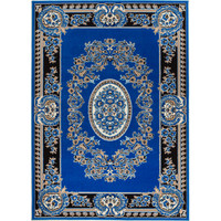 Rug and Decor Inc. Chateau Blue Area Rug & Reviews | Wayfair